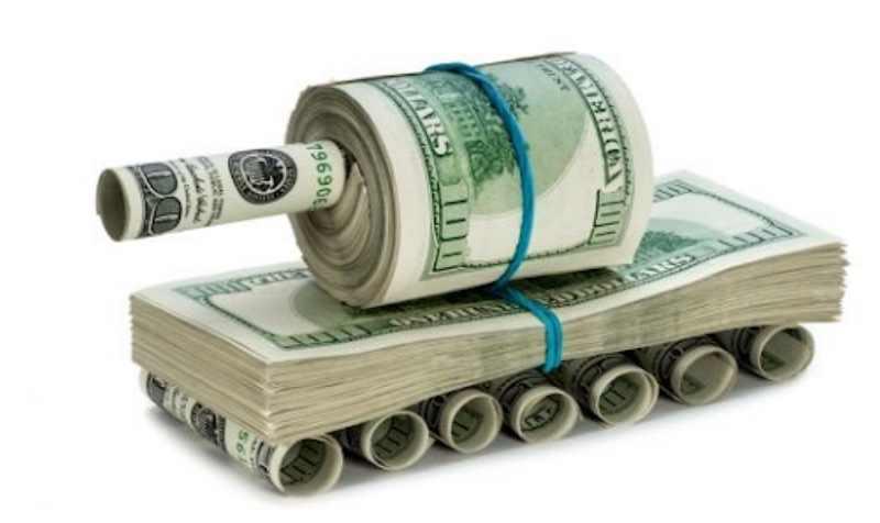 танк из долларов